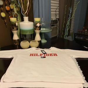 White Tommy Hilfiger Sweat Shirt